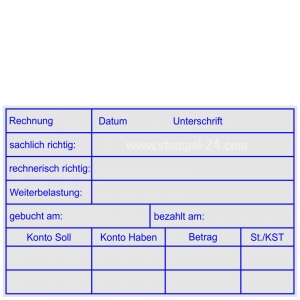 Kontierungsstempel Soll Haben Konto • Holzstempel 60 x 90 mm •