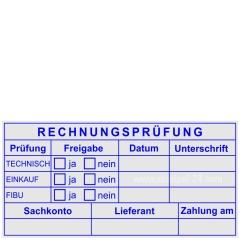 Kontierungs-Tabellenstempel Rechnungsprüfung Technisch Einkauf FIBU • Trodat Professional 5212 •