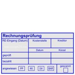 Stempel Rechnungsprüfung Kostenstelle Kreditor • Trodat Professional 5211 •