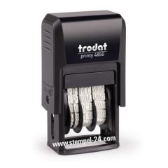 Trodat Printy 4850 Stempel mit verstellbaren Datum und individueller Stempelplatte 25 x 5 mm