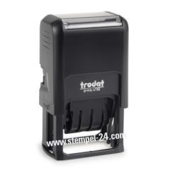 • Trodat Printy 4750 • Stempel mit verstellbaren Datum und individueller Stempelplatte 41 x 24 mm