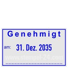 Stempel Genehmigt • Trodat Professional 5430 •