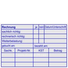 Stempel Rechnungsprüfung Rechnung Weiterbelastung Projektnummer • Trodat Professional 5211 •