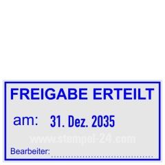 Stempel Freigabe erteilt Bearbeiter • Trodat Professional 5460 •