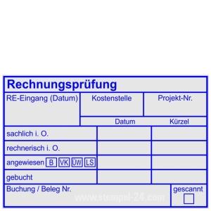 Stempel Rechnungsprüfung Rechnung angewiesen Bar Verrechnung-Kreditor Lastschrift • Trodat Professional 5211 •