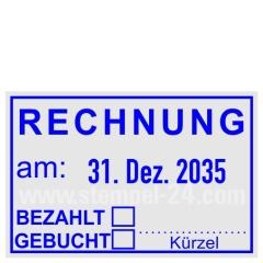 Stempel Rechnung Bezahlt Gebucht • Trodat Professional 5440 •