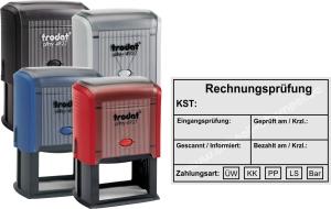 Stempel Trodat Printy Rechnungsprüfung Zahlungsart • Trodat Printy 4927 •