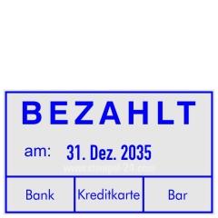 Rechnungsstempel Bezahlt Bank Kreditkarte Bar • Trodat Professional 5460 •
