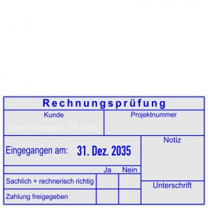 Kontierungsstempel Rechnungsprüfung Notiz • Trodat Professional 54110 •