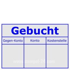 Kontierungsstempel Gebucht-Gegenkonto-Konto-Kostenstelle • Trodat Professional 5274 •