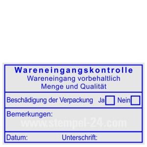 Stempel Wareneingangskontrolle • Trodat Professional 5203 •