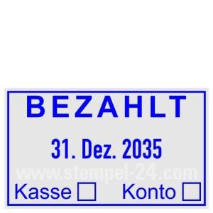Stempel Bezahlt Kasse Bar • Trodat Professional 5430 •