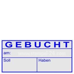 Kontierungsstempel Gebucht am Soll Haben • Trodat Professional 5204 •