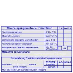 Stempel Wareneingangskontrolle Frischfisch Wareneingangsstempel • Trodat Professional 5211 •