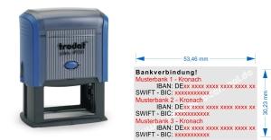 Stempel 3. Bankverbindung • Trodat Printy 4928 •