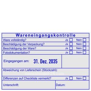 Stempel Wareneingangskontrolle Differenzen Fotodokumentation • Trodat Professional 54110 •