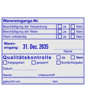 Stempel Wareneingangskontrolle / Wareneingangsnummer • Trodat Professional 54120 •