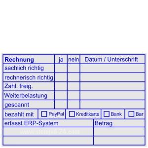 Rechnungsstempel Bezahlt PayPal Kreditkarte Bank Bar • Holzstempel 60 x 90 mm •