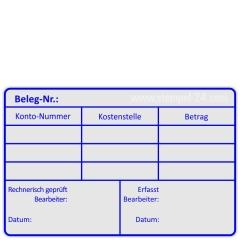 Rechnungsstempel Belegnummer erfasst • Holzstempel 60 x 90 mm •