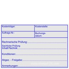 Kontierungsstempel Kostenträger Kostenstelle Konditionen • Holzstempel 60 x 90 mm •