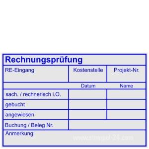 Rechnungsprüfung Kostenstelle Projektnummer • Holzstempel 60 x 90 mm •