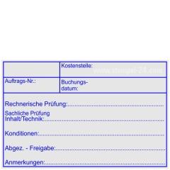 Kontierungsstempel Kostenstelle Auftragsnummer • Holzstempel 60 x 90 mm •