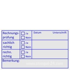 Holzstempel Buchhaltungsstempel Rechnungsprüfung • Holzstempel 40 x 70 mm •