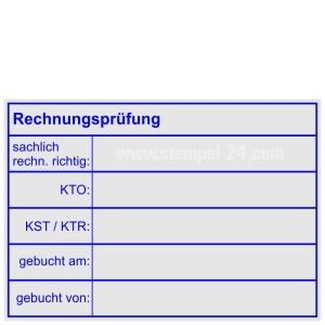 Holzstempel Rechnungsprüfung sachlich rechnerisch richtig • Holzstempel 50 x 70 mm •