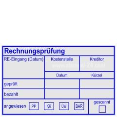 Holzstempel Rechnungsprüfung Kreditor • Holzstempel 50 x 80 mm •