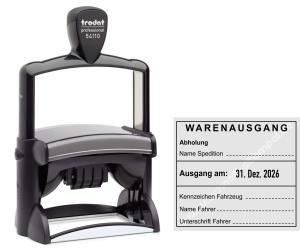 Stempel Warenausgang Spedition Abholung • Trodat Professional 54110 •