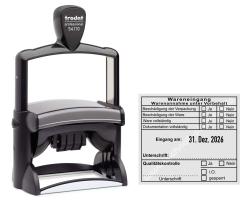 Stempel Warenannahme unter Vorbehalt Dokumentation Qualitätskontrolle • Trodat Professional 54110 •