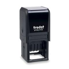 Trodat Printy 4724 Textstempel mit verstellbaren Datum und individueller Stempelplatte 40 x 40 mm