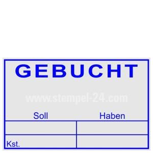 Stempel Gebucht Soll Haben Kostenstelle  • Trodat Professional 5206 •