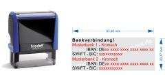 2. Bankverbindung • Trodat Printy 4913 •