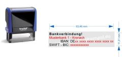 1. Bankverbindung • Trodat Printy 4913 •