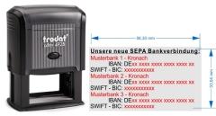 SEPA Stempel für 3. Bankverbindungen • Trodat Printy 4928 •
