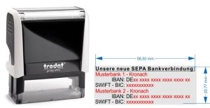 SEPA Stempel fuer 2. Bankverbindungen • Trodat Printy 4913 •