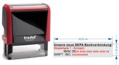 SEPA Stempel für 1. Bankverbindung • Trodat Printy 4913 •