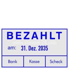 Rechnungsstempel Bezahlt Bank Kasse Scheck • Trodat Professional 5460 •