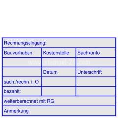 Stempel Rechnungsprüfung Bauvorhaben Kostenstelle Sachkonto • Trodat Professional 5208 •