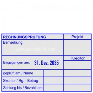 Kontierungsstempel Rechnungsprüfung Projekt Kreditor • Trodat Professional 54110 •