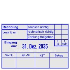 Buchungsstempel Rechnung • Trodat Professional 5474 •
