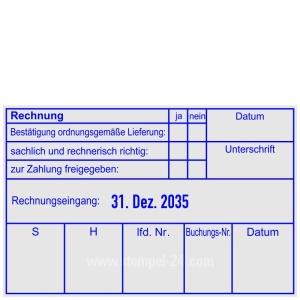Rechnungsstempel ordnungsgemäße Lieferung • Trodat Professional 54110 •