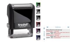 IBAN SWIFT Stempel für 2. Bankverbindungen • Trodat Printy 4913 •
