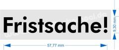 Stempel Fristsache • Holzstempel 10 x 15 mm •