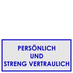 Stempel Persönlich und Streng Vertraulich • Trodat Professional 5204 •