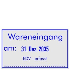 Stempel Wareneingang EDV erfasst • Trodat Professional 5460 •