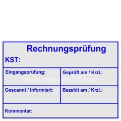 Rechnungsprüfung Kostenstelle Eingangsprüfung gescannt • Trodat Professional 5274 •