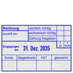 Rechnung Zahlung gebucht Konto Gegenkonto Kostenstelle • Trodat Professional 5474 •