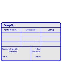Kontierungsstempel Belegnummer erfasst • Trodat Professional 5211 •